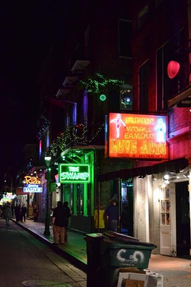 Bourbon street signs
