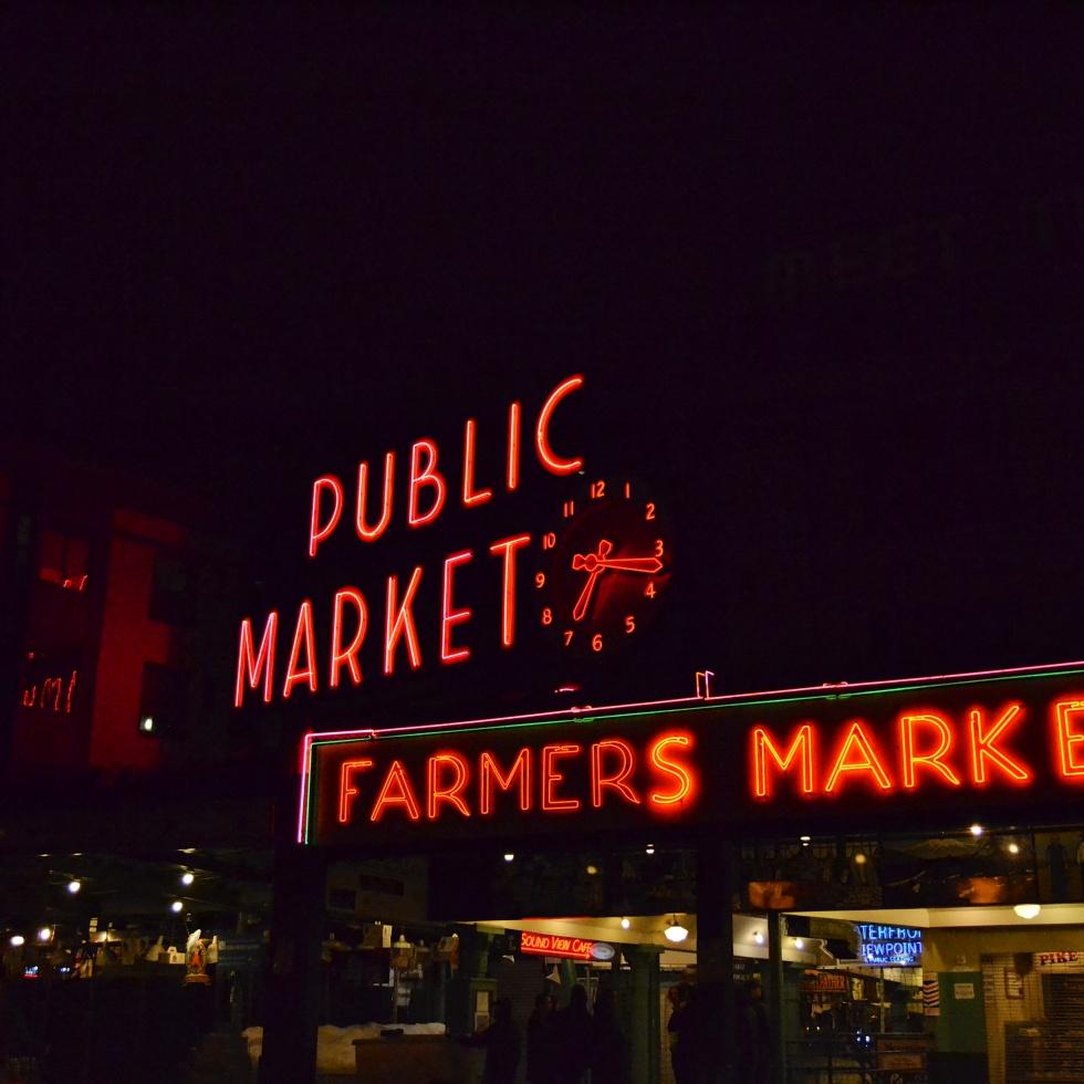 Public Market at night